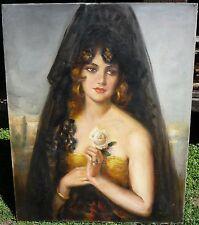 Gorgeous, Víctor Moya Calvo (1889-1972) Spanish Painter - Oil on canvas - Sevill