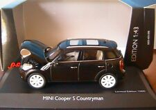 MINI COOPER S COUNTRYMAN ABSOLUTE BLACK 2010 SCHUCO 07441 1/43 bmw NOIR SCHWARZ