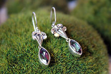 Sterling Silver .925 Handcrafted Mystic Topaz Earrings Mystic Green Marquise