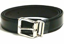 New faux leather Men's Belt Adjustable strap Black with Silver buckle formal