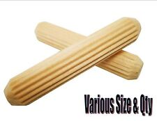 Hardwood trend grooved fluted pin dowels 6mm 8mm 10mm various pack sizes