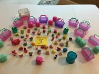 Shopkins Cases Baskets Bins Figures Huge Lot #3  FREE SHIPPING   SKU 036-45