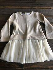 Kardashian Kids 3T Girls Beige Tutu Sweater Dress