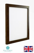 "Walnut Photo Picture Poster 19mm Frames 3x3""-12x16"" A6-A3 10x10cm-30x40cm Glass"