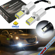 2PC White High Power CREE 2835-SMD H3 LED Bulbs For Fog Lights Driving DRL Lamps