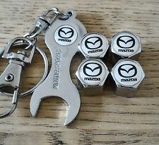 Mazda Blanco Cromo Polvo Tapas De La Válvula Llave limitada todos los modelos Retail Pack RX-7