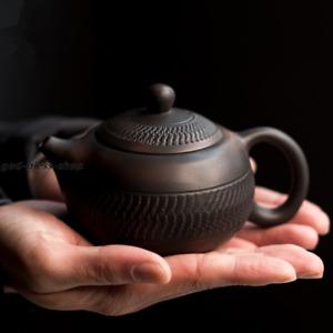 China JianShui purple pottery tea pot creative handmade pot xishi ball infuser
