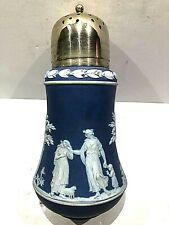 C.1910 ~ WEDGWOOD JASPERWAR COBALT BLUE Sugar Shaker Muffineer - CLEAN & CRISP