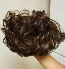 NEW! Toni Brattin twin clip curly hair piece. Medium brown color (B)