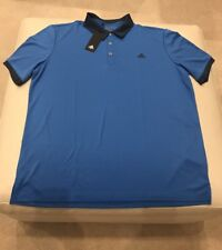 100% Authentic $55 Adidas Climalite Men'S Golf Stay Dry Xl Dark Blue Polo Shirt