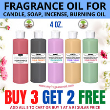 Fragrance Scented Oil For Soap Burning Bath Bomb Candle Incense making Oil 4 oz