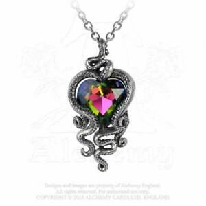 Alchemy Gothic Heart Of Cthulhu Pendant Necklace - Gothic,Goth