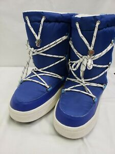 Aldo Women's Blue Araneo Snowboot Boots 7.5 Fur Lined Lace Up Ski Boots