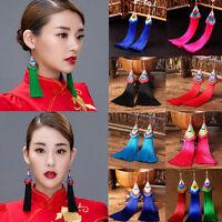 Fashion Women Bohemian Long Tassel Fringe Vintage Boho Hook Dangle Earrings Gift