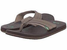 Men's Shoes Sanuk Beer Cozy 2 Casual Flip Flop Sandals SMS10868 Brindle *New*