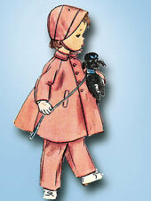 1950s Vintage Simplicity Sewing Pattern 4454 Toddler Girls Flared Coat Size 2