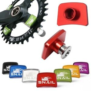 4x MTB Bicycle Crankset Fixed Nut MTB Chainring Bolt Chainwheel Screws.