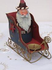 Weihnachtsmann fliegend im Doppeldecker Weihnachtsdekoration 20cm