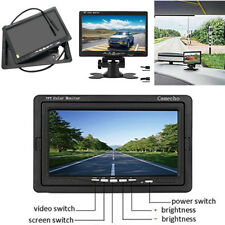 """7"""" TFT LCD Monitor + Wireless Licese Plate Back up Camera Night Vision Car Truck"""