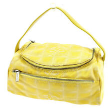 Chanel Pouch Bag Vanity New travel line Yellow Silver Woman Authentic Used T3257