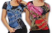 Klassische hüftlange Damenblusen, - tops & -shirts mit U-Ausschnitt aus Viskose