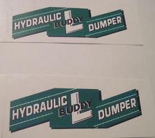 Buddy L Hydraulic dumper water slide decal set