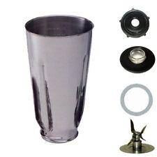 Blendin 5 Cup Stainless Steel Complete Blender Jar fits Oster Blenders