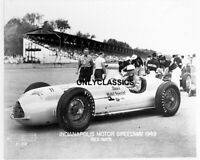 1949 REX MAYS INDY 500 INDIANAPOLIS SPEEDWAY NOVI V-8 MOBIL GAS SPECIAL PHOTO