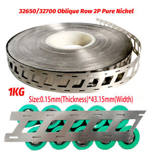 1kg Pure Nickel Belt 2P For Welding Of 32650 Battery Pack Position Stagger