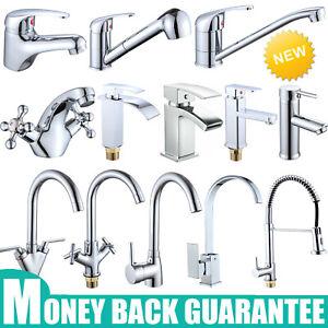 Kitchen Bathroom Basin Sink Mixer Tap Hot&Cold Water Faucet Monobloc Chrome Tap