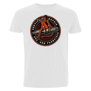 Old School Pin Up T-Shirt Rockabilly Rockebella Skull Eightball Pinup Tuning V8