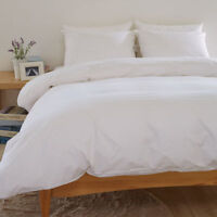 NEW ORIGINAL 400 THREAD COUNT DUVET SET WHITE CREAM COLOR EXTRA REFINED QUALITY