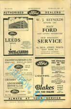 Ford Dealers Advert Autocar Olympia Motor Show Guide 1936 Original