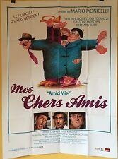 Affiche MES CHERS AMIS. 120x160 cms. Noiret, Tognazzi, Ferracci, Bernard Blier