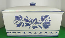 Pfaltzgraff YORKTOWNE Bread Box with Lid Stoneware (Made in China) Blue Floral
