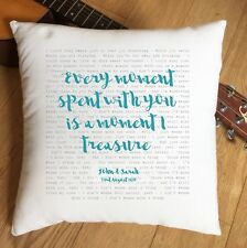 More details for aerosmith i don't want to miss a thing lyrics personalised cushion 2nd cotton