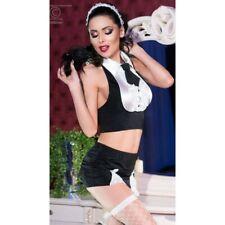 Lingerie Femme - Déguisement Sexy - Costume Sexy Serveuse 5 Pièces