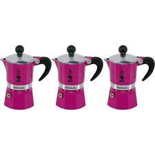 3 x Bialetti Rainbow Stovetop Espresso Coffee Maker, Aluminium - Fuchsia - 1 Cup