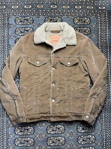 Vtg Levis Corduroy Sherpa Jacket Size M