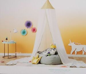 """Pillowfort Sequin Canopy Fits Over Twin Bed or Play Area 100""""L×180""""W×18 D NIB"""