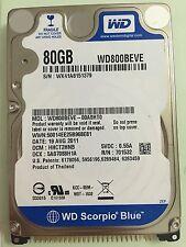 WD 80GB 2.5in IDE PATA Hard Drive HDD 800BEVE Internal 5400RPM