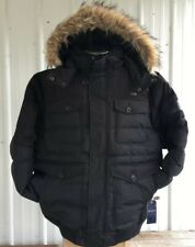 NEW Rocawear Classic Black Jacket Boroughs of Honor Fur Lined Hood Coat Mens 5X