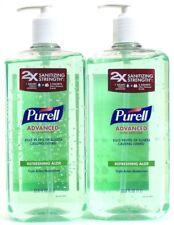 2 Purell Advanced Hand Sanitizer Refreshing Aloe Triple Action Moisturizers 33.8