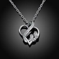US Silver 100 Languages Light I Love You Projection Pendant Necklace