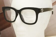 NEW GUCCI GG 0033OA eyeglasses Frame 001 Black 52mm UNISEX AUTHENIUM