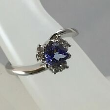Exquisite - Tanzanite & White Topaz 925 Sterling Silver Ring - 0.67 carats