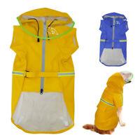 2XL-5XL Boxer Dog Raincoat with Hood Waterproof Rainwear Yellow Medium Large