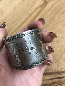Engraved Solid Silver Napkin Ring