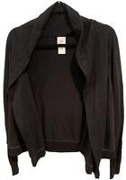 Cabi 3355 Winsome Sweater Knit Open Cardigan - Black - Women's Size Medium M C2