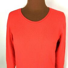 Classiques Entier Womens Sweater Small S Red Long Sleeves Textured Zipper Back